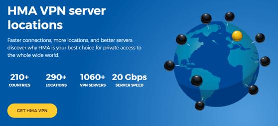 hma vpn review server