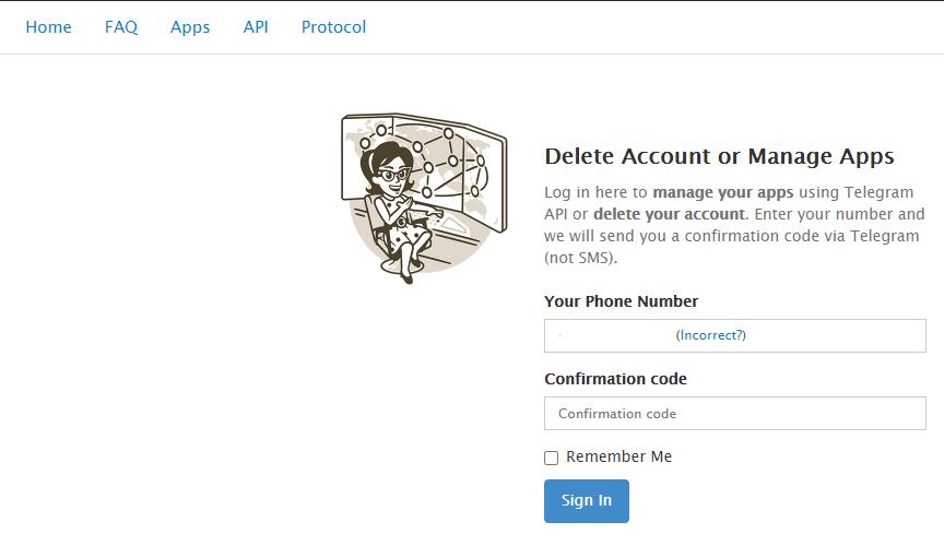 delete telegram Account-2