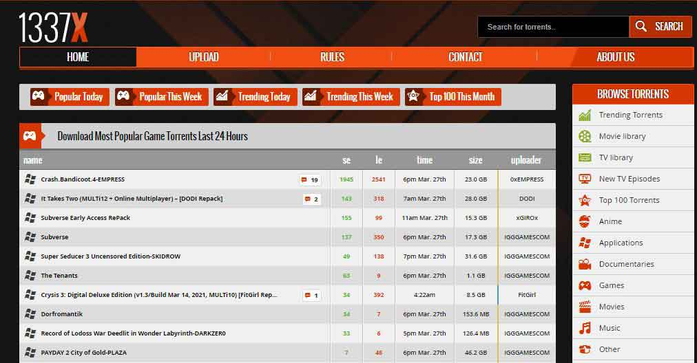 best torrent site for pc games