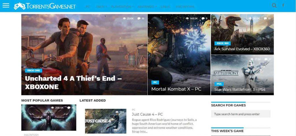 TorrentGames.net free games torrent site